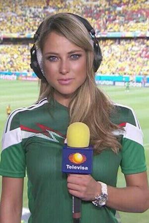 ¿Quién es la sexy cronista mexicana que causa furor en el Mundial?