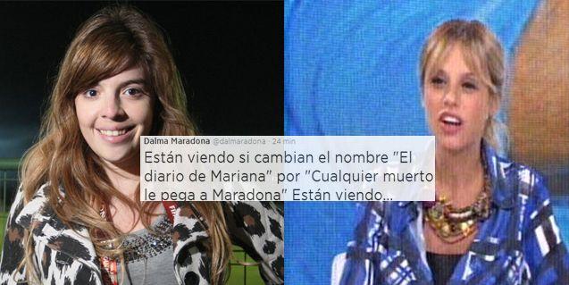 Dalma furiosa con El diario de Mariana: Cualquier muerto le pega a Maradona