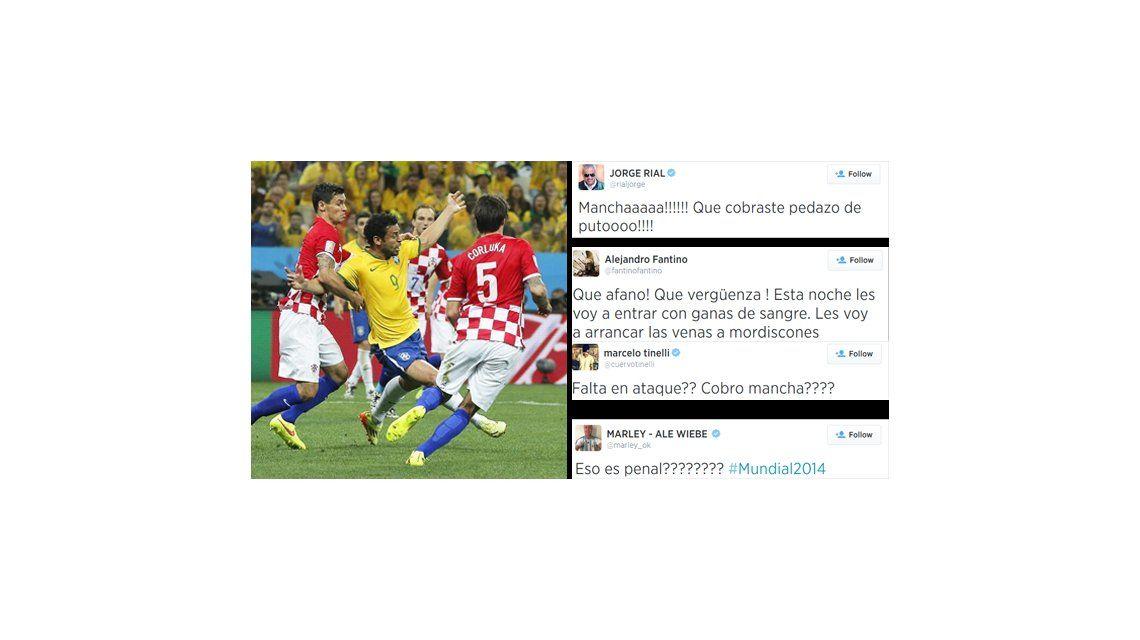 ¿Hubo robo? Los famosos furiosos con el árbitro japonés del partido Brasil-Croacia
