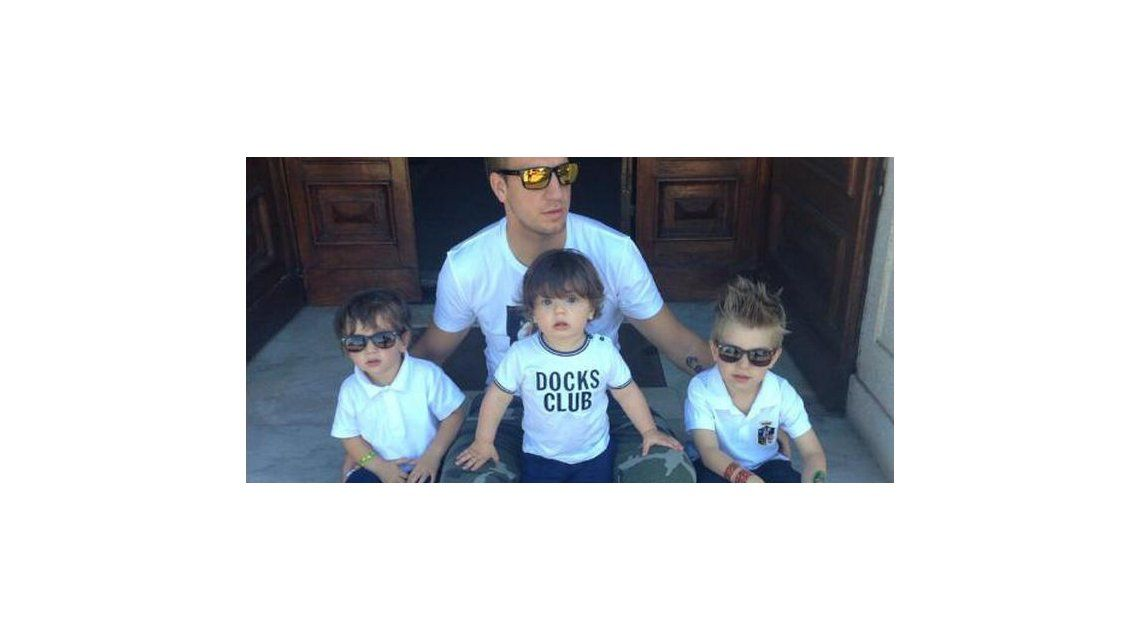 Rechazaron el pedido de Maxi López de tenencia de sus hijos