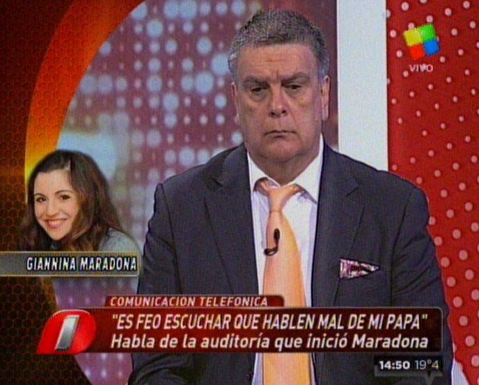 Nuevo cruce entre Gianinna Maradona y Luis Ventura: Hablá con propiedad