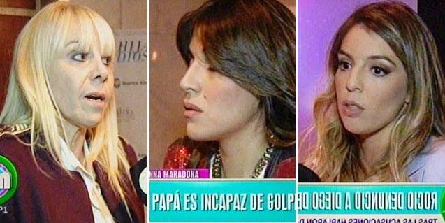 Hablaron las mujeres Maradona: Claudia, Dalma y Gianinna; ¿es golpeador?