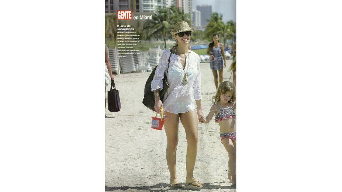 Las vacaciones familiares de Mariana Fabbiani, embarazada de seis meses