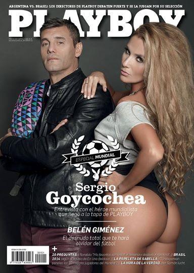 Sergio Goycochea en la tapa de la nueva edición de la revista Playboy