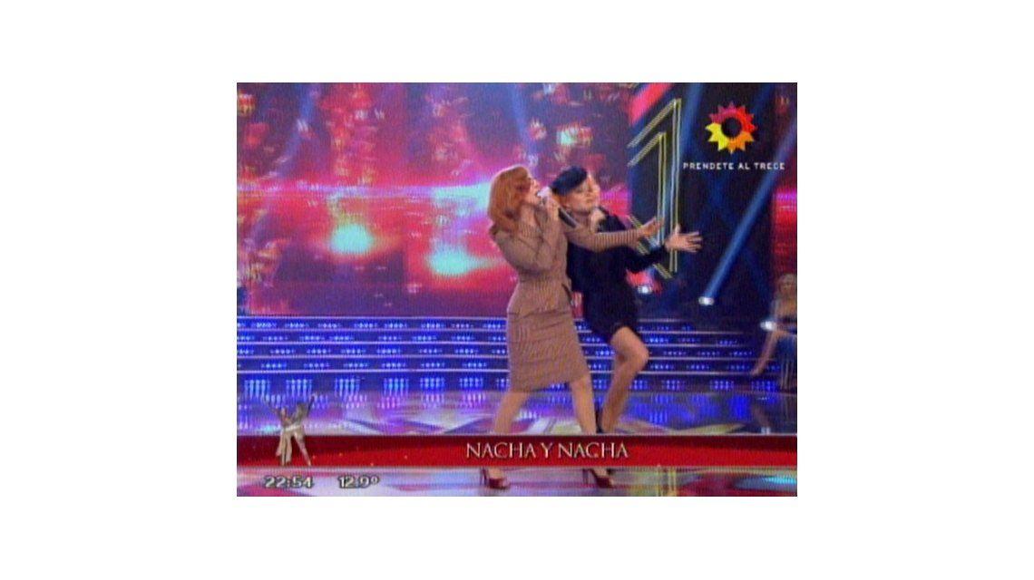 Nacha vs Nacha: bailaron y cantaron en la pista del Bailando 2014