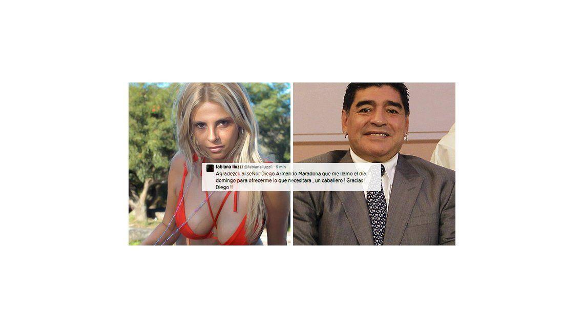 Fabiana Liuzzi en pie de guerra: Le agradezco al Señor Diego Armando Maradona