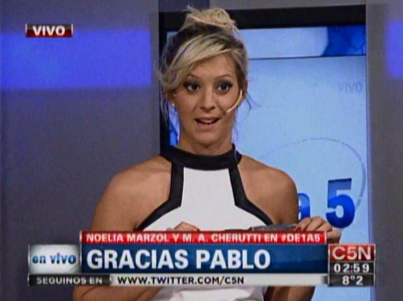 Noelia Marzol cortó con su novio y lloró en vivo en De 1 a 5 por C5N