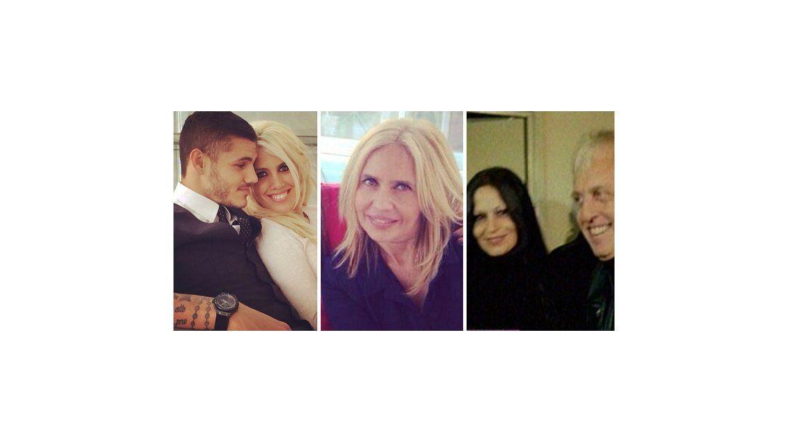 A Wanda Nara se le juntan todos en la boda con Mauro Icardi: la madre, el padre y la madrastra