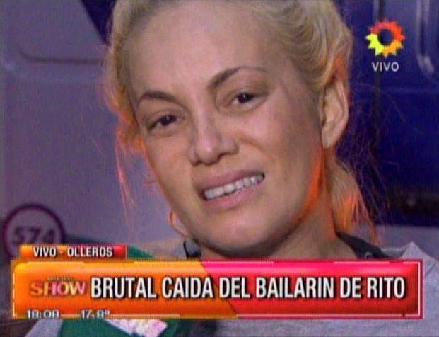 El llanto de María Eugenia Ritó: se quebró al aire y su bailarín se lesionó