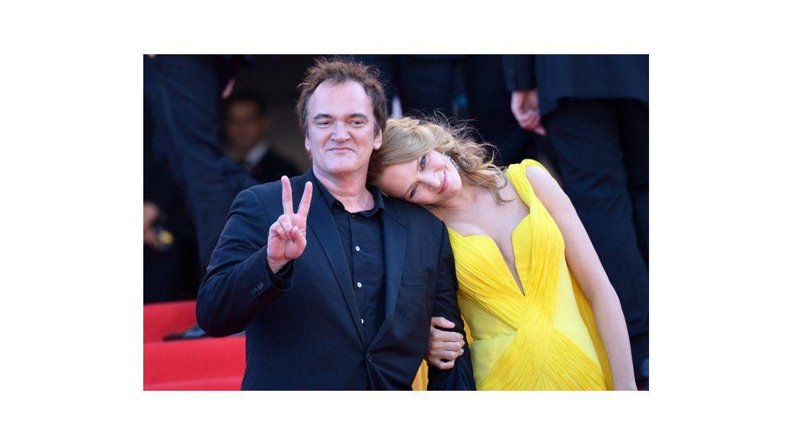 Quentin Tarantino y Uma Thurman juntos y enamorados
