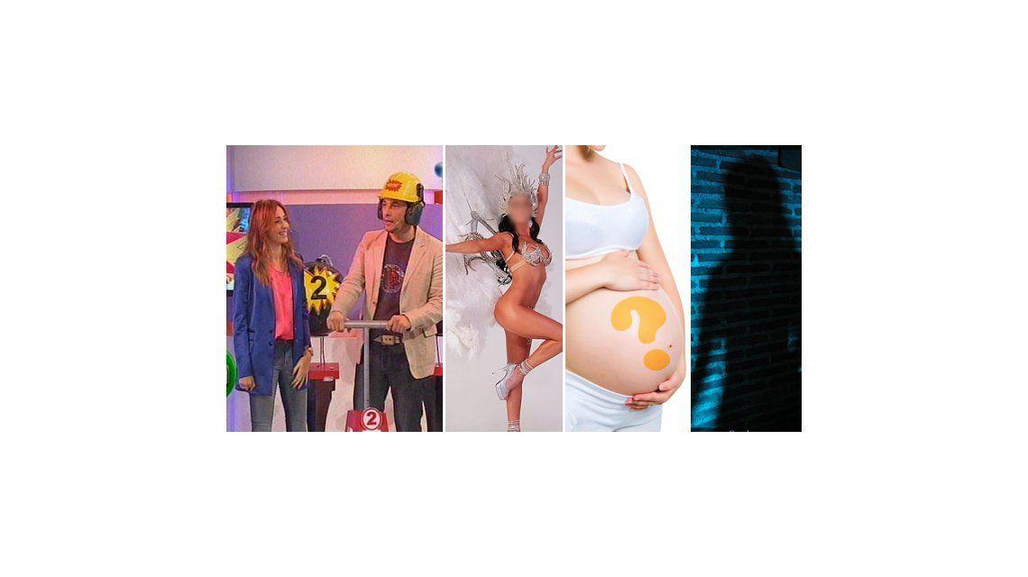 Venganza de mujer; un hombre se pone las plumas; embarazo y crisis