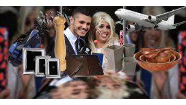 La insólita lista de casamiento de Wanda e Icardi para que les paguen la luna de miel