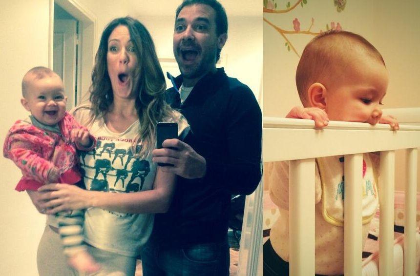 Pedro Alfonso lo logró: después de nueve meses, Olivia durmió en su cuna; la reacción de Paula Chaves
