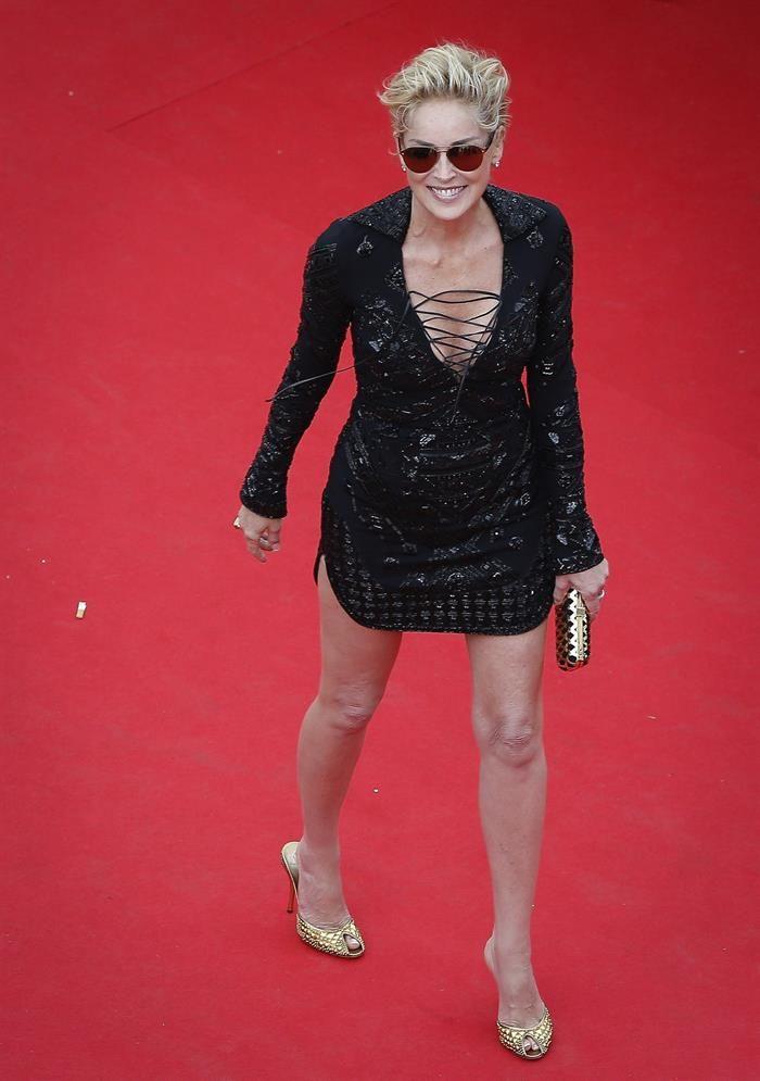 La vigencia de una diva: Sharon Stone deslumbró en Cannes