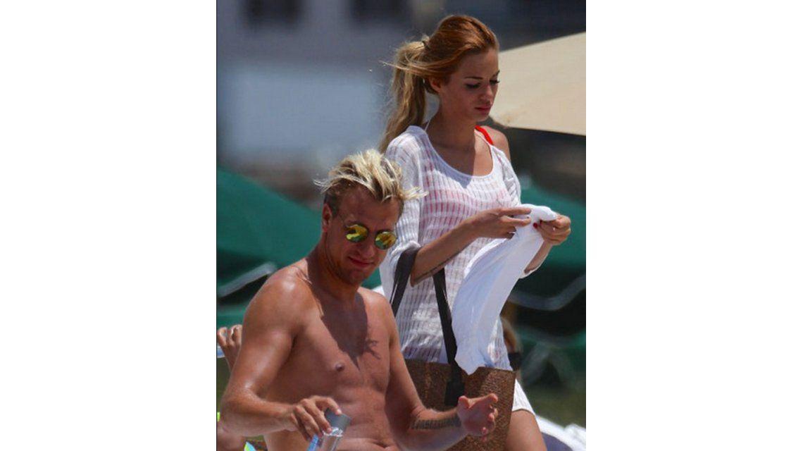 Las vacaciones lujosas de Maxi López con su nueva novia en Miami