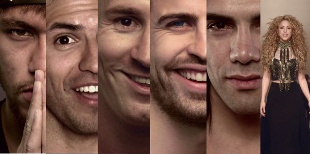 Messi, Agüero, Falcao, Piqué y Neymar se suman al clip de Shakira para el Mundial