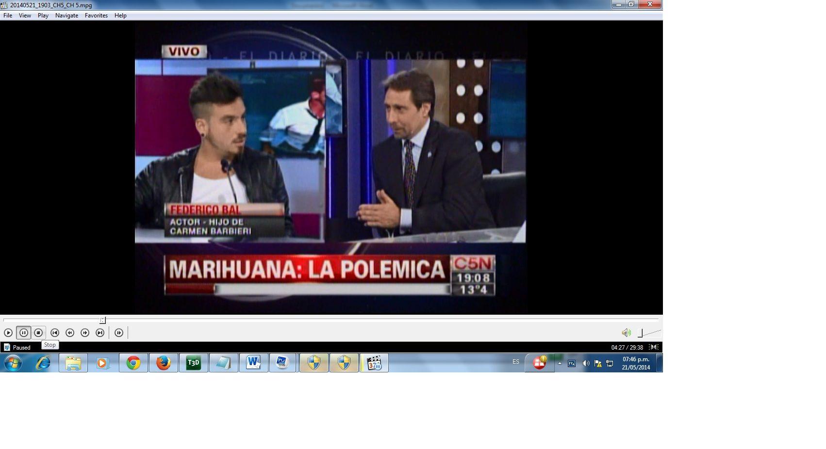 El picante cruce entre Fede Bal y Eduardo Feinmann por el consumo de marihuana