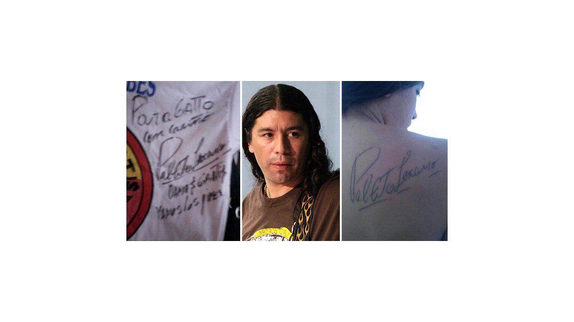 Un fan se tatuó el autógrafo de Pablo Lescano pero él le dijo que era trucho