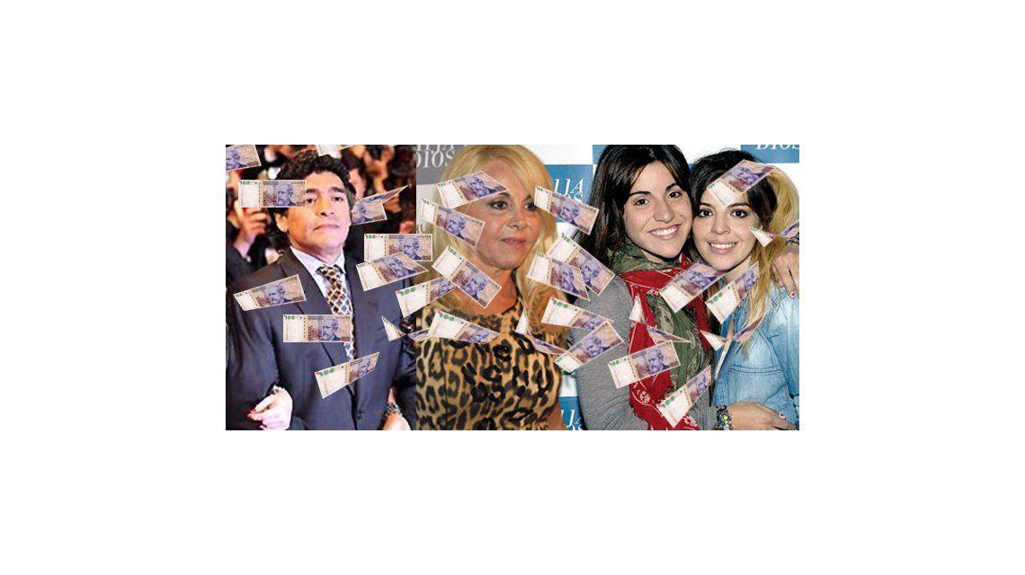 Maradona mandó investigar a Claudia y sus hijas por 10 millones de dólares; piden auditoría