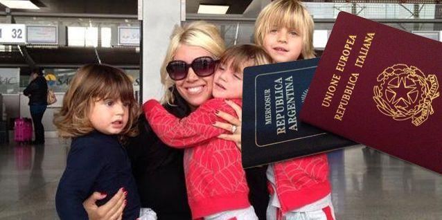 Wanda Nara e Icardi, con sus hijos en brazos, salieron llorando de Ezeiza