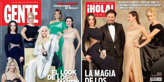 Los looks de los premios Martín Fierro en las tapas de las revistas de la semana