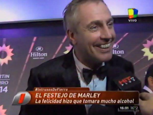 Marley, borracho en los Martín Fierro: Es la única manera de soportarlo