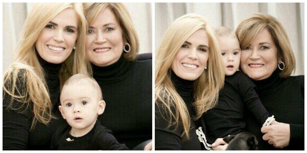 A una semana de cumplir un año, Viviana canosa muestra a su hija Martina hoy