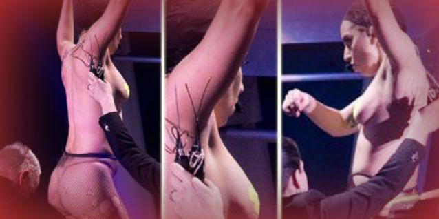 Polémica: Volvió Lady Gaga y se desnudó arriba del escenario