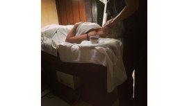 Después de la polémica foto, Wanda intenta recomponer su imagen en un spa
