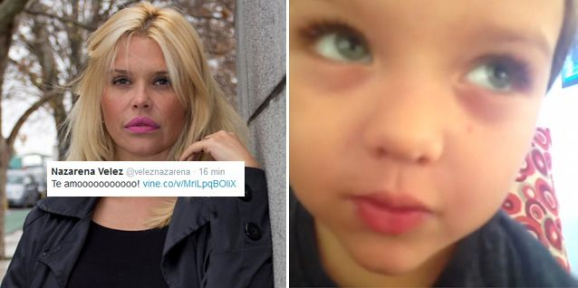 El emocionante video del hijo de Nazarena Vélez: Te amo mamita