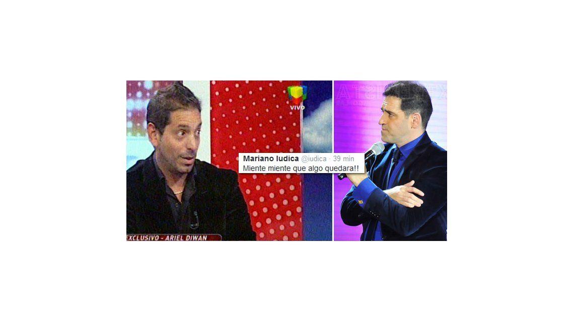 Tremendo cruce: Ariel Diwan en Intrusos y Mariano Iudica en Twitter; guerra sin fin