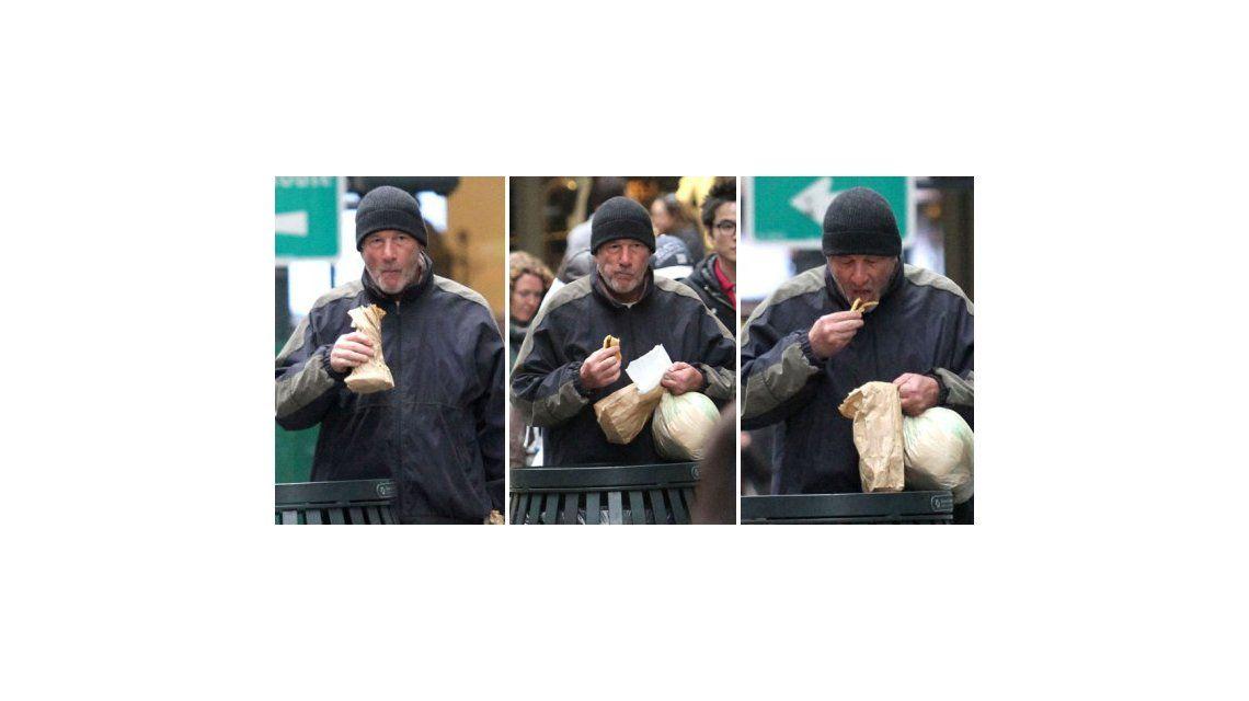 Confundieron a Richard Gere con un linyera y le dieron comida