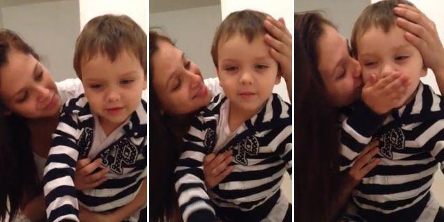 El hijo de Nazarena Vélez conmueve en las redes sociales con un video