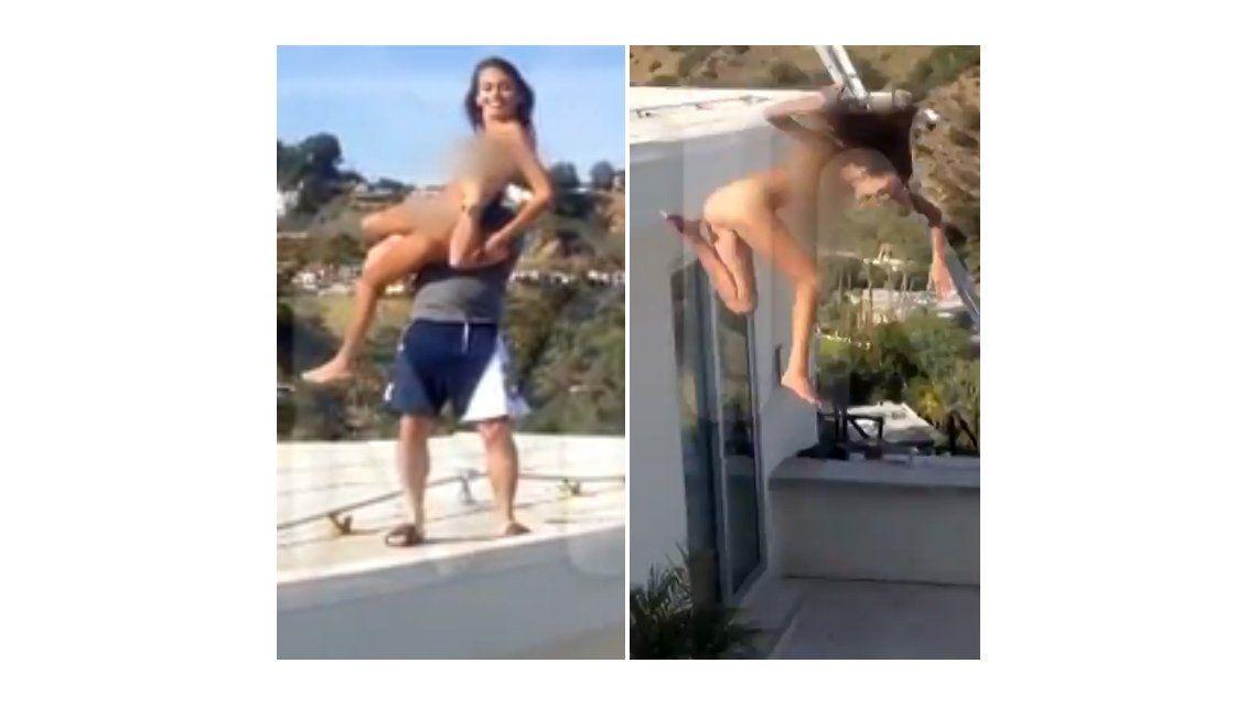 Tiraron de una terraza a una actriz porno y la quebraron