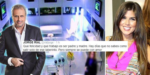 Jorge Rial, lejos de Loly, entre el trabajo y la paternidad: tweets y grabaciones