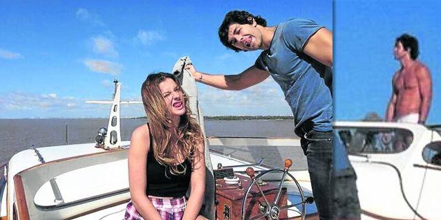 La China Suárez y Mariano Martínez graban sus escenas para Camino al amor