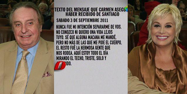 Santiago Bal le justificó su infidelidad a Carmen Barbieri: Me lo pidió el cuerpo