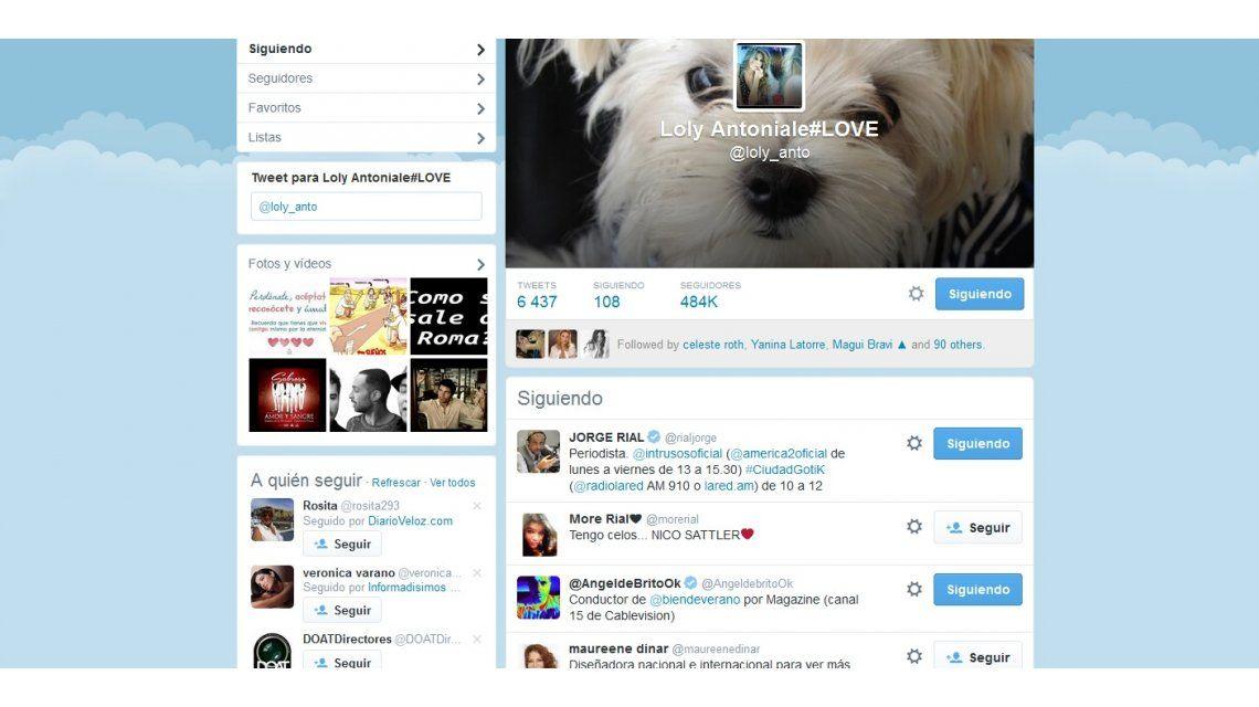 Loly y Rial cerca de la reconciliación: ella lo sigue de nuevo en Twitter