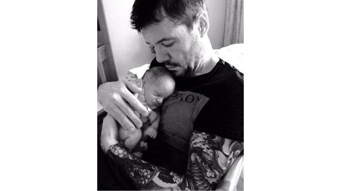 La primera foto de Tinelli y su hijo Lorenzo