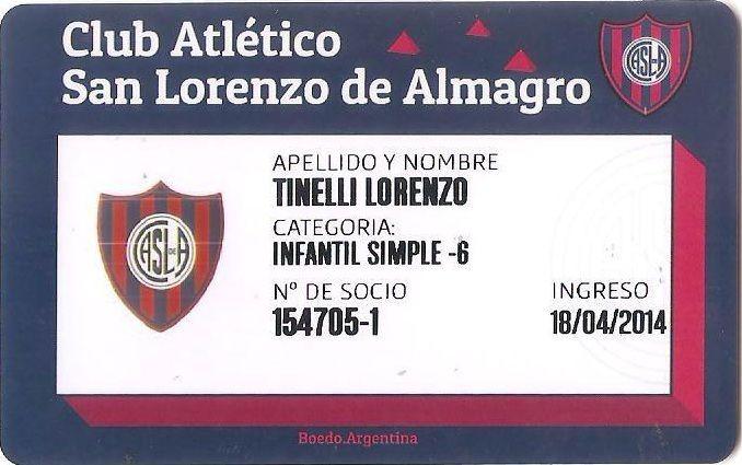 El hijo de Marcelo Tinelli y Guillermina Valdés ya es socio de San Lorenzo