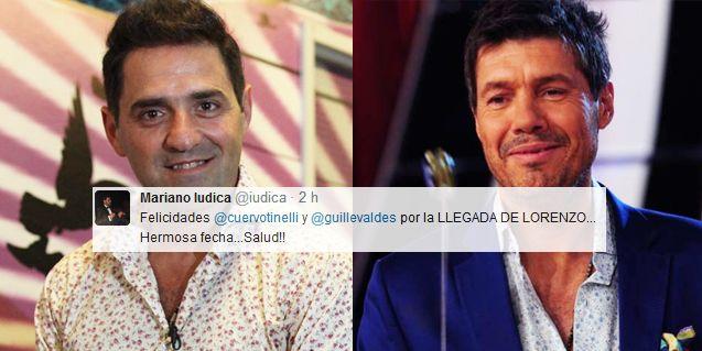 En plena pelea, Mariano Iúdica felicitó a Marcelo Tinelli por la llegada de Lorenzo