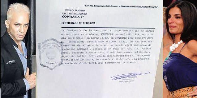 El abogado de Propato denuncia al productor de Flavio Mendoza por violento