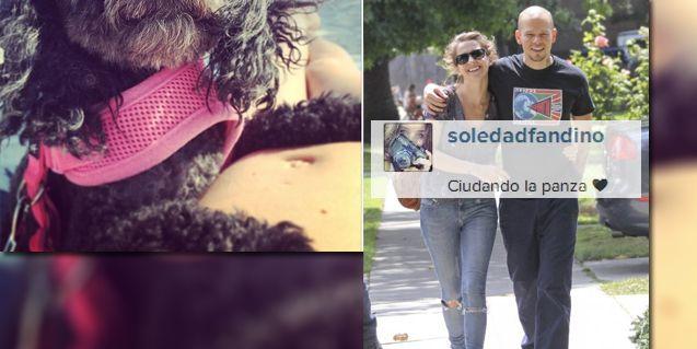 La felicidad de Soledad Fandiño, embarazada: Cuidando la panza