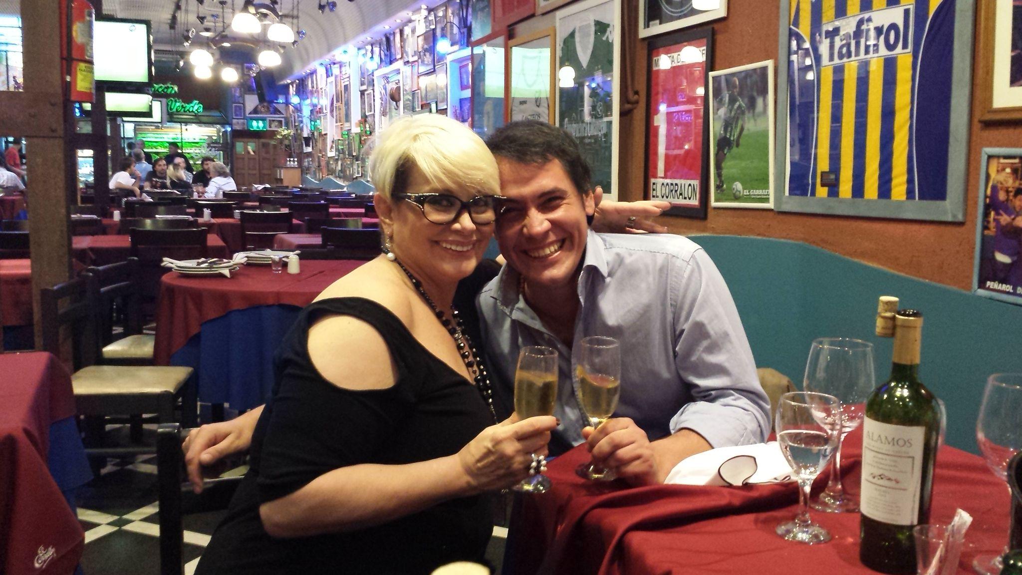 Foto oficial: Carmen festejó el estreno de Brillantísima con su novio, Rodrigo