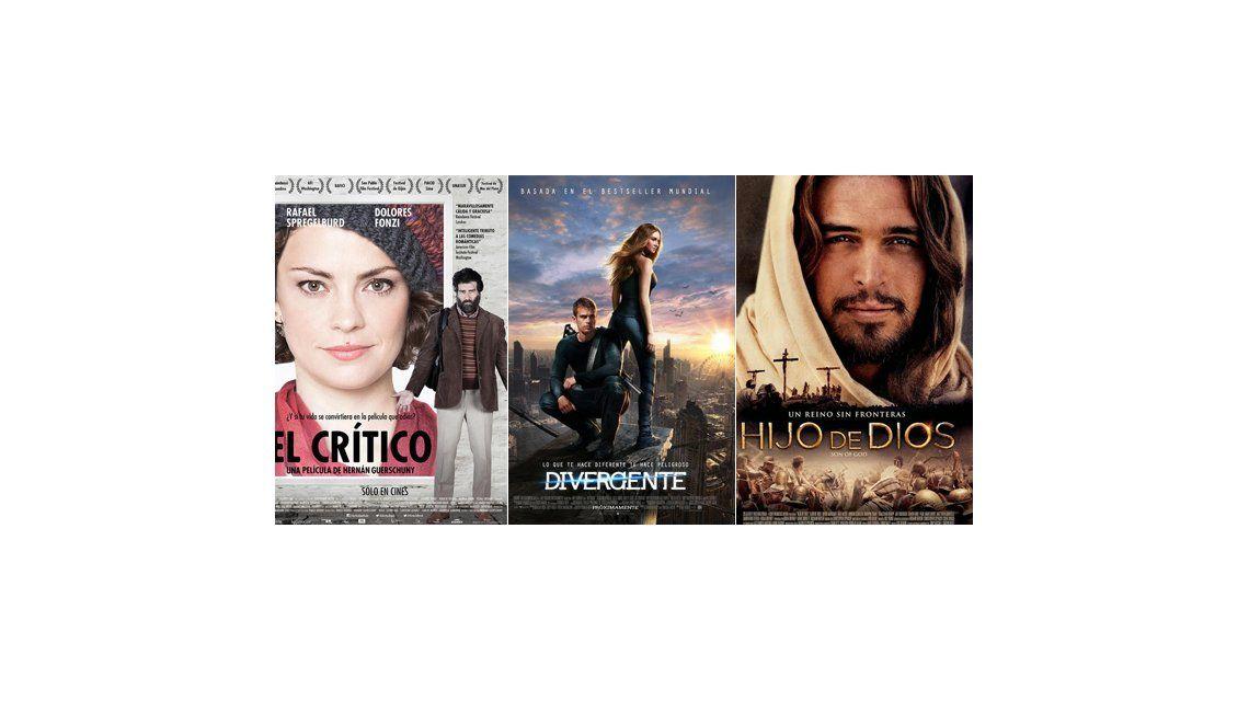 Las películas imperdibles de esta semana: El crítico, Hijo de Dios, y Divergente