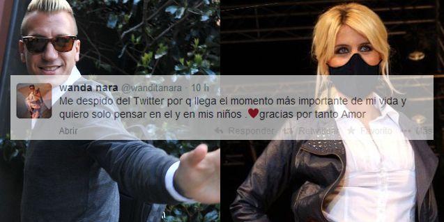 Maxi López le puso un bozal legal y Wanda Nara abandonó Twitter