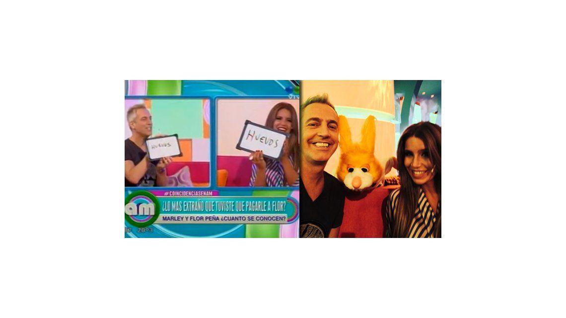 Florencia Peña y Marley nuevamente juntos en televisión