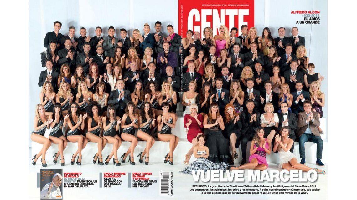Tapa de revistas: Gente adelanta lo que será el gran regreso de Tinelli