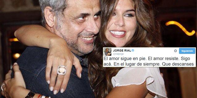 El romántico tweet de Rial para Loly Antoniale: El amor sigue en pie, resiste