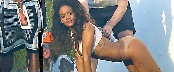 Rihanna posó semi desnuda para una producción de fotos
